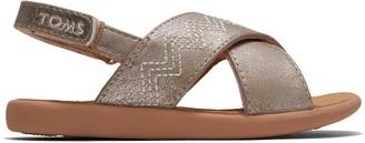 Toms Desert Taupe Shimmer Synthetic Tiny Viv Sandals