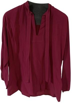 Hermes Burgundy Silk Top for Women