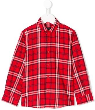 Il Gufo Long-Sleeve Checked Shirt