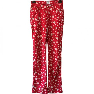 Moschino Red Trousers for Women Vintage