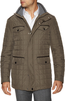 Canali Men's Hooded Square Quilted Puffer Jacket