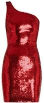 Saint Laurent One-shoulder sequin-embellished mini dress
