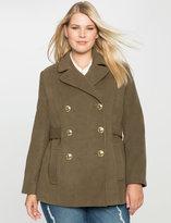 ELOQUII Plus Size Preppy Pea Coat