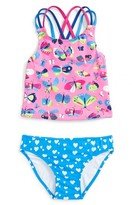 Hatley Toddler Girl's Butterfly & Hearts Two-Piece Swimsuit