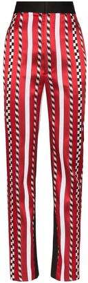 Haider Ackermann high-rise striped slim-leg trousers