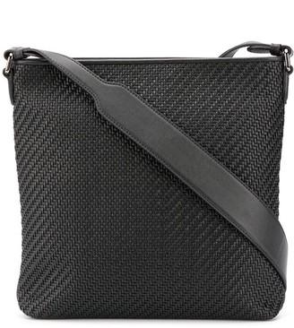 Ermenegildo Zegna Woven Square Messenger Bag