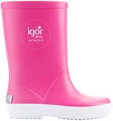 Igor Fuchsia Splash Nautico Rain Boot