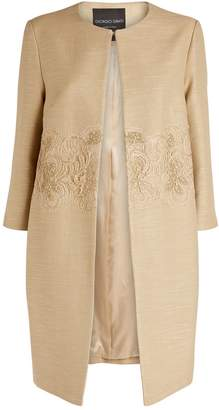 Giorgio Grati Embellished Collarless Coat