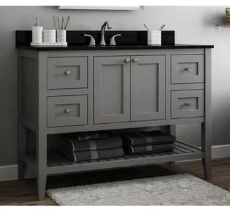 "CNC Costume National Cabinetry Vanguard 48"" Single Bathroom Vanity Base Only Cabinetry Base Finish: Dove Grey"