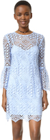 Cynthia Rowley Floral Mosaic Long Sleeve Dress