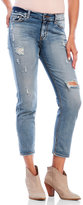 eunina Sexy Boyfriend Distressed Crop Jeans