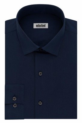 Unlisted by Kenneth Cole mens Slim Fit Solid Dress Shirt