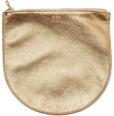 Baggu Leather Pouch Gold