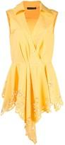 Josie Natori lace detail asymmetric blouse