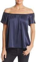 Joie Brandi Off-the-Shoulder Silk Top