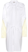 Nina Ricci Lace-trimmed Cotton Shirt Dress