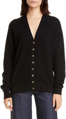 KHAITE Amelia Button Front Cashmere Cardigan