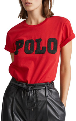 Polo Ralph Lauren Big Fit Beaded Polo Tee