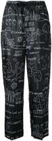 Muveil illustration print drawstring trousers