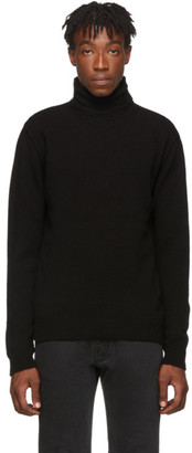Raf Simons Black Virgin Wool Double Strap Turtleneck