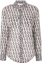Tory Burch Guru Border print shirt - women - Cotton - 4