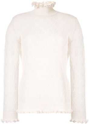 Undercover Embroidered Long-Sleeve Top