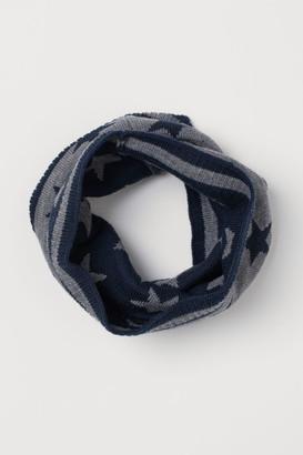 H&M Jacquard-knit Tube Scarf - Gray