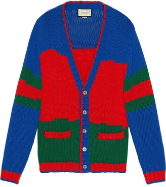 Gucci Oversized Striped Knitted Cardigan