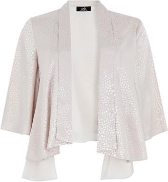 Wallis Silver Jacquard Chiffon Jacket