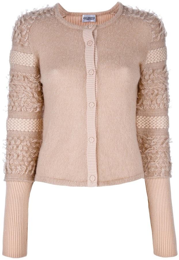 Philosophy di Alberta Ferretti fitted textured sweater