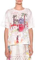 Marni Artist Collaboration Short-Sleeve Jersey Cotton T-Shirt