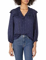 Jessica Simpson Women's Rumer Ruffled Button Up Front Blouse