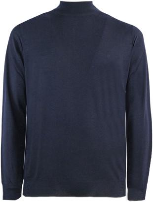 Fedeli Blue Virgin Wool Sweater
