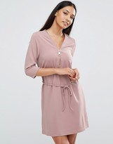AX Paris Zip Front Belted Tunic Dress