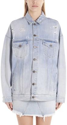 Givenchy Destroyed Oversized Denim Jacket