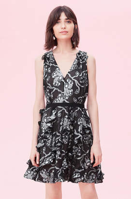 Rebecca Taylor Lurex Lily Clip Dress