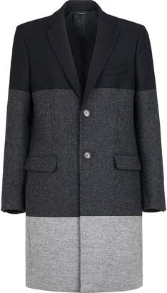 Fendi Colour Block Single Breasted Coat