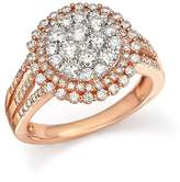 Bloomingdale's Diamond Double Halo Cluster Ring in 14K Rose Gold, 1.40 ct. t.w. - 100% Exclusive