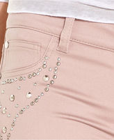 Tinseltown Juniors Jeans, Skinny Studded Pink-Wash