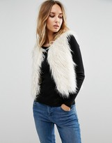 First & I Copped Faux Fur Gillet