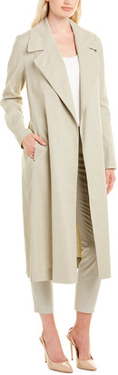 Lafayette 148 New York Zelida Linen-Blend Trench Coat