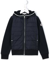Moncler padded panel fleece jacket - kids - Cotton/Feather Down/Polyamide - 4 yrs