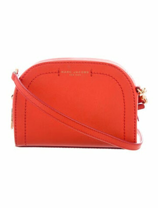 Marc Jacobs Leather Crossbody Bag Red