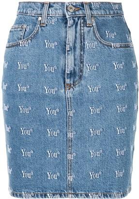 MSGM Youth denim skirt