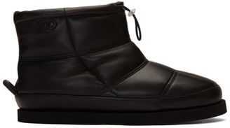 Kenzo Black Leather Kusco Boots