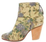 Rag & Bone Floral Newbury Ankle Boots