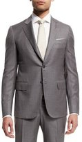 Isaia Super 140s Striped Two-Piece Suit, Light Gray