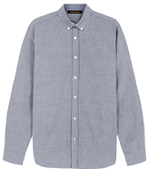 Jaeger Oxford Shirt, Black/white