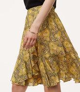 LOFT Sun Garden Flounce Skirt