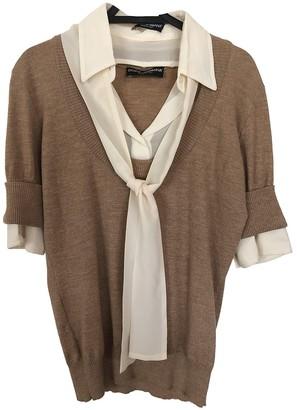 Dolce & Gabbana Beige Wool Knitwear for Women Vintage